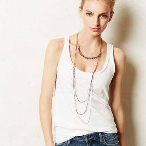 Pure & Good {Anthropologie} -White distressed Tank